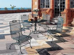 Spring Chairs Patio Furniture Woodard Briarwood Wrought Iron High Back Coil Spring Chair 400066