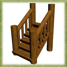 mod the sims log modular stairs and railing