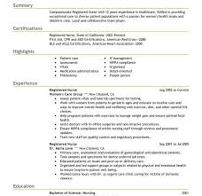 nurse resume examples sample registered nurse resume example and