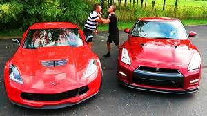 gtr or corvette gtr vs z06 drag race battle