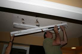 Replacement Parts For Fluorescent Light Fixtures Replace Fluorescent Light Fixture In Kitchen Kitchen Design