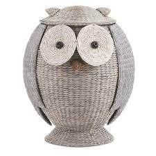 home decorators collection owl 28 in h x 22 in w grey hamper