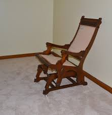 Gliding Rocking Chair Late Victorian Era Eastlake Style Glider Rocking Chair Ebth