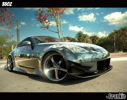 chrome nissan nissan 350z chromed by frivasbx on deviantart