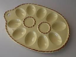 ceramic egg plate 666 best deviled eggs platters images on deviled eggs