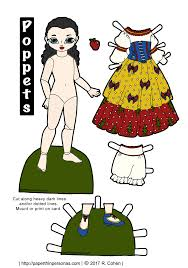 poppet paper dolls play snow white u2022 paper thin personas