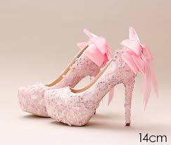 wedding shoes dublin pink lace cinderella shoes with bow beaded bridal bridesmaid