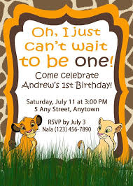 theme invitations invitation simba theme