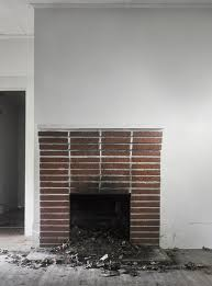Painted Fireplaces Fireplace Makeover Painting The Brick Fireplace White