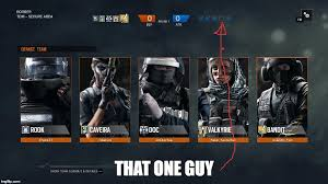 Six Picture Meme Maker - rainbow six that one guy imgflip