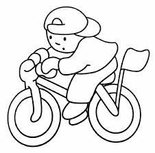 coloriage bicyclette les beaux dessins de transport à imprimer