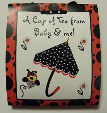 12 baby shower ladybug tea bag party favors
