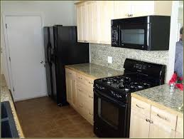Black Glazed Kitchen Cabinets Fine Kitchen Cabinets Black Appliances White With N Intended