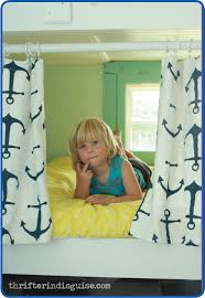 Curtains For Bunk Bed A Thrifter In Disguise Easy Sew Diy Bunk Bed Curtains