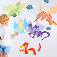 beautiful dragon wall decals easy to apply and remove