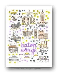 map of baton baton la map print henson
