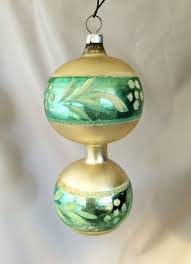 vintage germany sphere blown glass ornament with