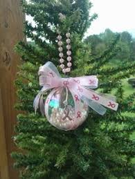 breast cancer ornaments dollar store glass ornaments pink