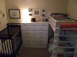Loft Bed With Crib Underneath Bedroom Loft Bunk With Crib Underneath Toddler Beds Cribs