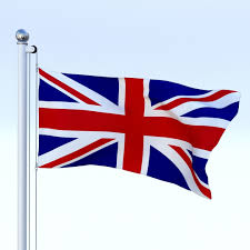 England Flag Jpg 3d Asset Anmated Great Britain Flag Cgtrader