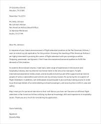 7 flight attendant cover letter templates sample example