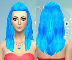 sims 4 blue hair darkiie sims 4 31 hair recolors sims 4 downloads
