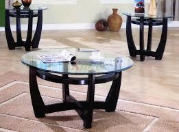 3 piece living room glass table set standard furniture seville 3