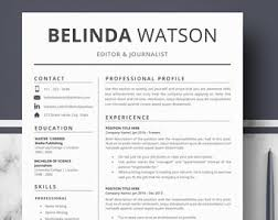 Best Fonts For Resume by Creative Resume Etsy