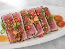 japanese fusion cuisine spicy tuna japanese fusion cuisine stock photo picture and