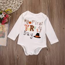 thanksgiving newborn baby boy romper jumpsuit