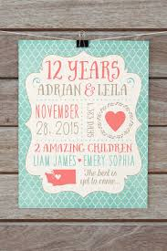 12 year anniversary gift for him wedding gift creative what is the 12th wedding anniversary gift