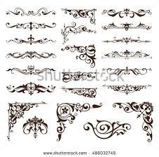 deco design elements vintage ornaments stock vector 486032749