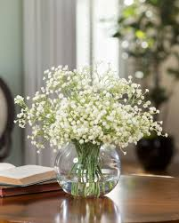 silk baby s breath stylish decorating with silk flower centerpieces at petals