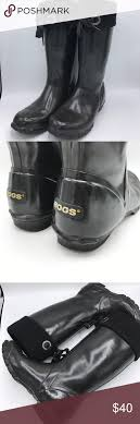 bogs s boots size 9 bogs alex solid black lined rubber boots size 9