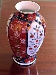 vintage hand painted gold imari vase flowers and bamboo u2022 31 95