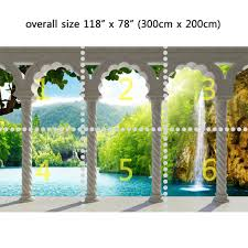 wall mural waterfall in deep forest arch structure peel and stick wall mural waterfall in deep forest arch structure peel and stick repositionable fabric wallpaper for interior home decor
