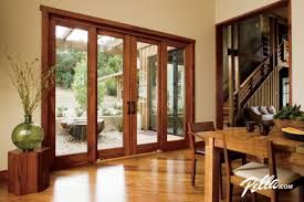 Contemporary Patio Doors Pella Architect Series 4 Panel Sliding Patio Door Contemporary