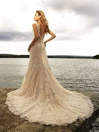 vintage ivory wedding dress vintage mermaid ivory lace wedding dress with v backcherry