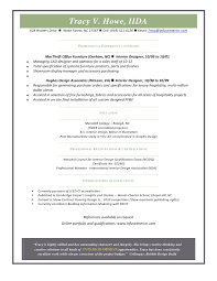 Interior Designer Resume Commercial Interior Design Resume