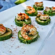 healthy canapes dinner healthy canapes dinner blackened shrimp and cucumber