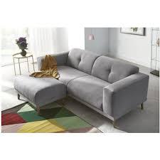 canape 3 places avec pouf enjoy gris clair bobochic pas cher