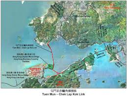 Zhuhai China Map by Lantau Link Closure Hong Kong Chief Executive Leung Chun Ying