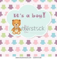 baby boy arrival card baby shower stock vector 216600544