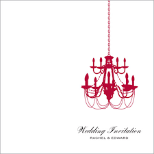 the chandelier wedding stationery collection by pink polar