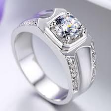 new mens rings images 2018 2016 new gemstone rings luxury 1 karat diamond ring man jpg