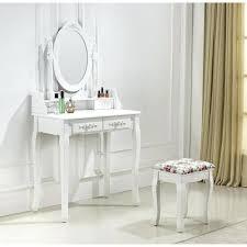 coiffeuse blanche si e avec miroir inclus coiffeuse avec miroir 3 tabouret et screenpro co
