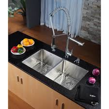 kraus kpf 1602 ksd 30ch single lever pull out kitchen faucet and