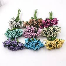 artificial flowers for home decoration 12pcs artificial flower mini matte stamens handmade for wedding