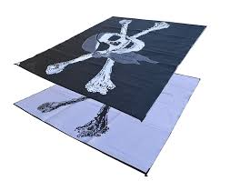 Rv Awning Mats 8 X 20 by Amazon Com Rv Patio Mat Awning Trailer Mat Pirate Flag 9x18