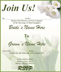 Invitation For Marriage Free Templates For Wedding Invitations Haskovo Me